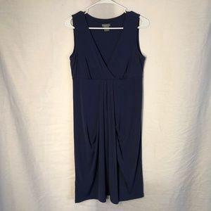 Ann Taylor Small Blue Dress Shift Sleeveless 1236